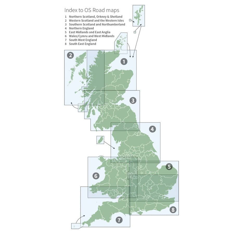 World of maps click here for index of ordnance survey great britain os road maps 1250000 gumiabroncs Gallery